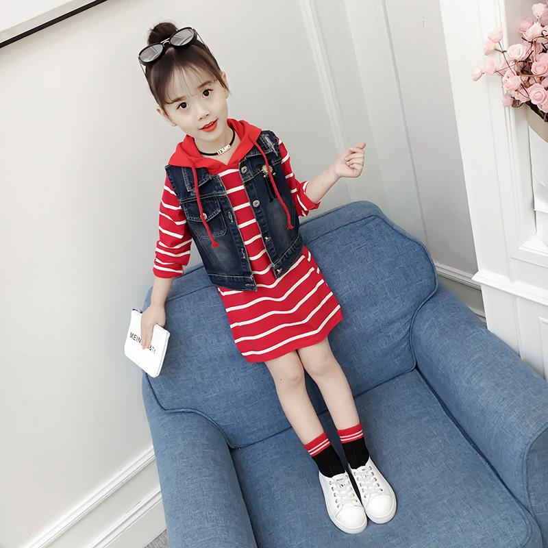 童装女童秋装2019新款年儿童女孩连衣裙春款洋气公主裙子两件套潮
