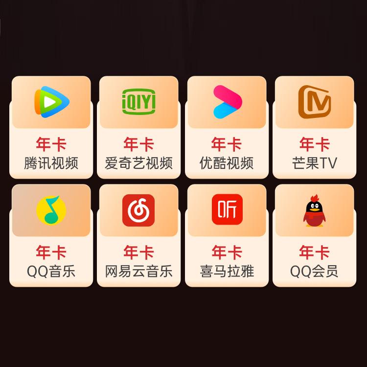 爱奇艺、腾讯视频、芒果Tv等12个月年卡