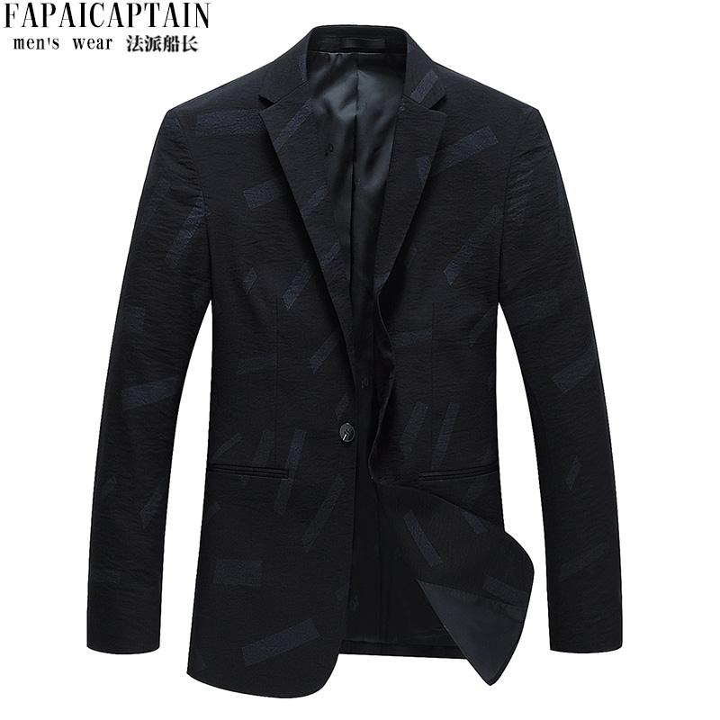 法派船长 2020春季新品男士时尚休闲一粒扣西装 青年修身西服外套