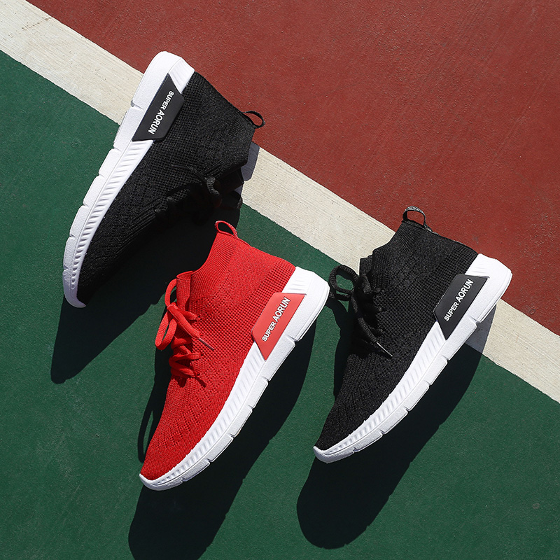 67f5b652c1 Socks shoes female 2019 spring ins wild wisdom shoes Composite Super fire  Network Red Mountain High-Top Sneakers female tide