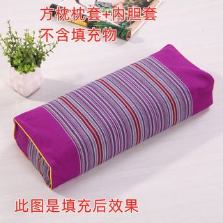 Pure Cotton Old Coarse Cloth Palace Retro Rectangular Pillow Cervical Pillow Case Zipper Pillow Case Pillow Skin Without Filler Pillow Pocket
