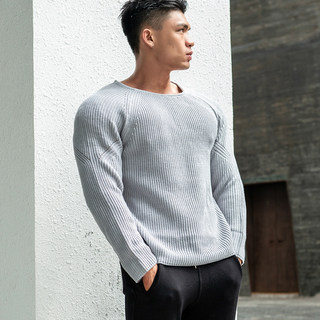 Muscle Brothers 2019 new product autumn and winter sports outdoor casual tops Slim long-sleeved round neck pullover sweater