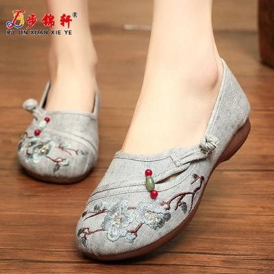 老北京布鞋女绣花鞋夏季民族风中老年女鞋春秋妈妈鞋子2021年新款