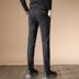 Mùa xuân cho nam quần âu kinh doanh xu hướng Hàn Quốc hợp thời trang Slim Slim chân nhỏ quần dài quần nam thẳng - Quần