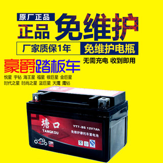 Halma Haojue Yuexing 125 scooter battery YTX7A-BS maintenance-free pedal battery 12V7AH