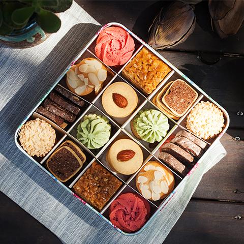 情人节礼物男送女友礼品 曲奇饼干伴手礼盒装 零食大礼包特产生日