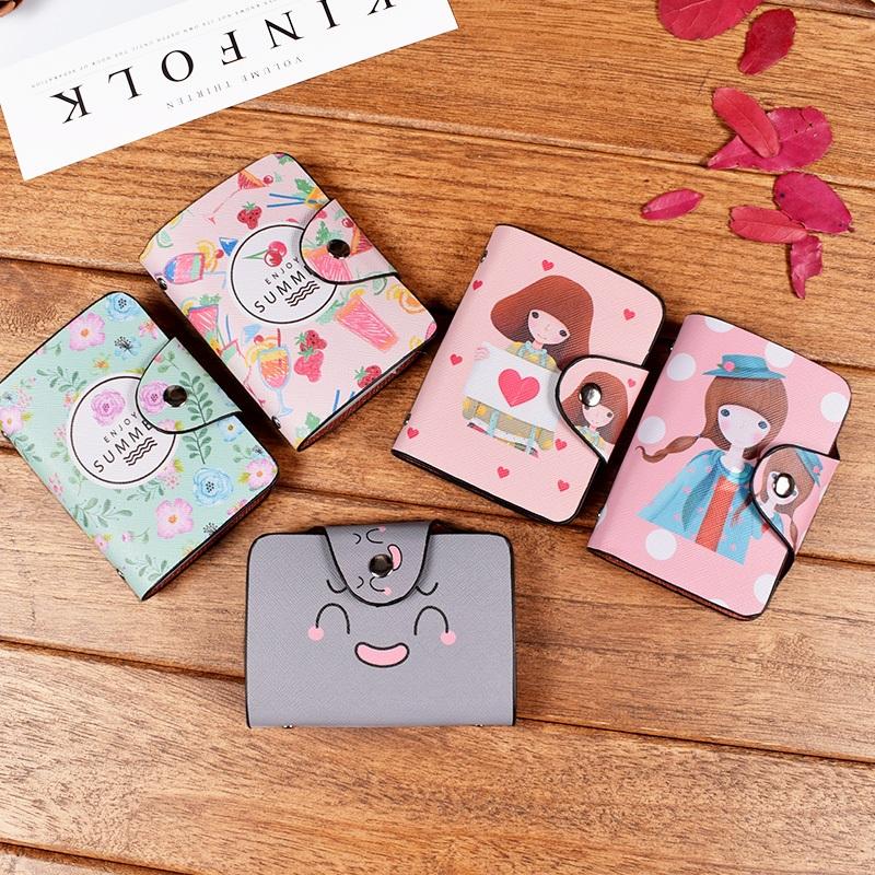 小卡包女式卡通学生可爱薄卡套多卡位女士银行信用卡片包名片夹韩