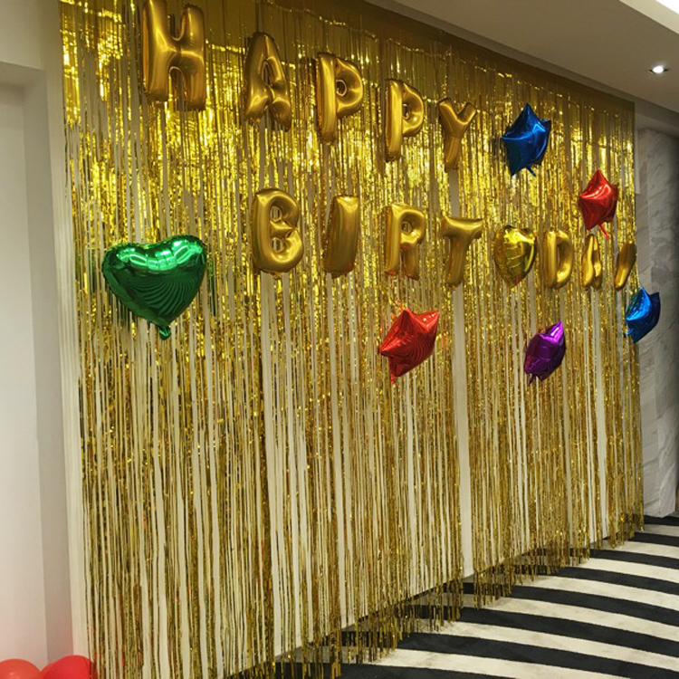 USD 5.72] Rain curtain pulled the festoon a children day party ...