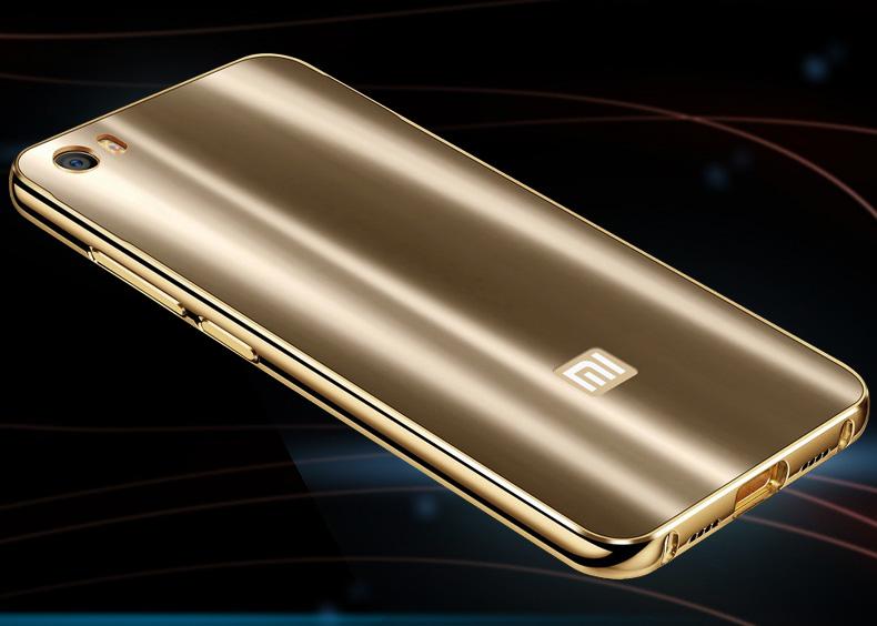 iy Ultra Slim Lightweight Aluminum Metal Bumper Dazzle Color Acrylic Back Cover Case for Xiaomi Mi 5