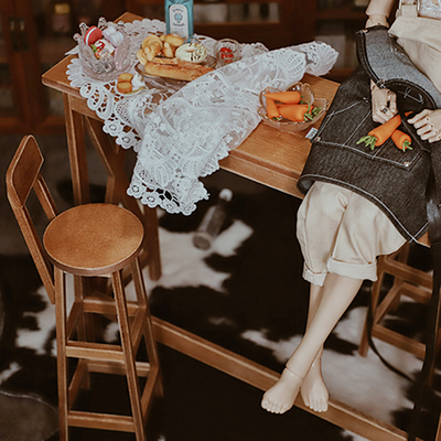taobao agent Thirty thousand dean BJD doll furniture bar table chair stool photo scene props 3 points / uncle 4 points