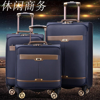 Paul trolley luggage suitcase caster male box Small Business leather suitcase 20-inch 24 female password