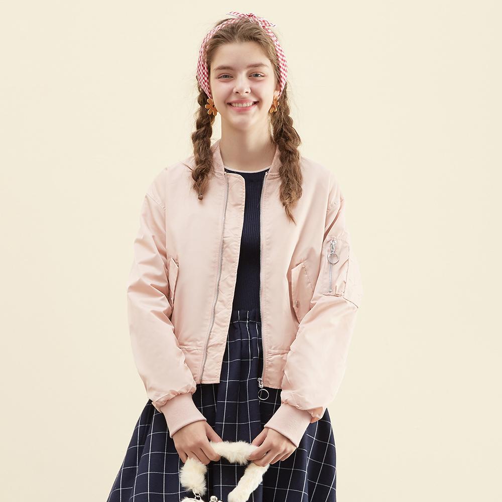 美特斯邦威女装旗舰店夹克女春秋装新款棒球服外套通勤官方网店