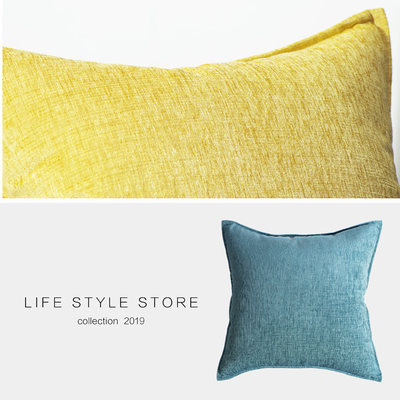Nordic Huangshi Geese Brush Sofa Pillow Pillion Pillow Soft Swan Plush Living Hall Modern Simple Style