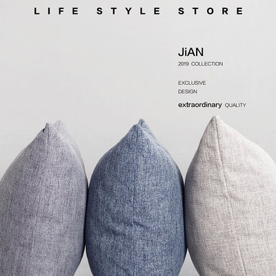 Large solid color cotton Yabei European sofa pillow cushion set living room bedside pillow simple modern style fabric