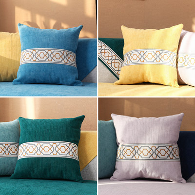 Nordic minimalist pillow living room sofa cushion cover thickened office lumbar pillow backrest pillow back cushion