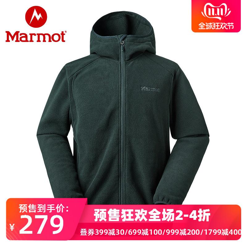 双11预售 Marmot 土拨鼠 V83840 户外运动 男式连帽抓绒夹克 ¥269包邮(需定金40元)3色可选