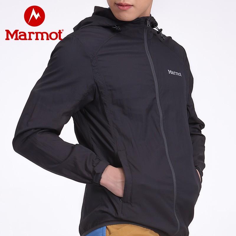 Marmot 土拨鼠 Trail Wind 防泼水透气连帽皮肤风衣 H51155/H51179/H35942 天猫优惠券折后¥198包邮(¥498-300)男、女多色可选