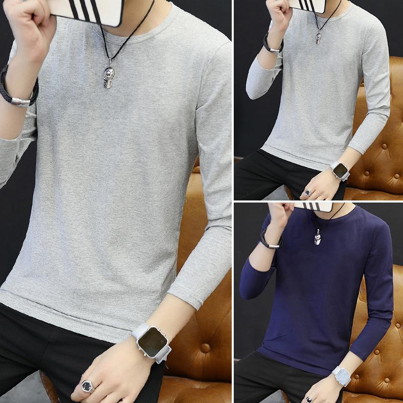 Цвет: Длинным рукавом шею сплошной цвет/серый+серый+темно-синий