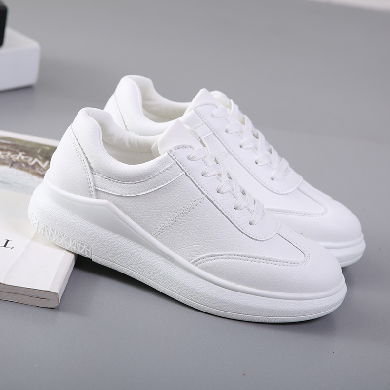 2c1e3cf22f2 Small white shoes female Summer 2018 autumn new wild Korean casual shoes  students thick soles increased sports shoes spring