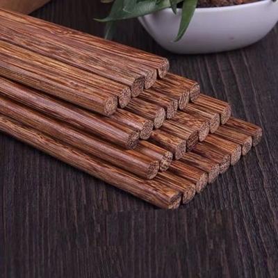 鸡翅木筷子红檀木筷子家用防霉筷子防滑原木厨房耐高温筷子