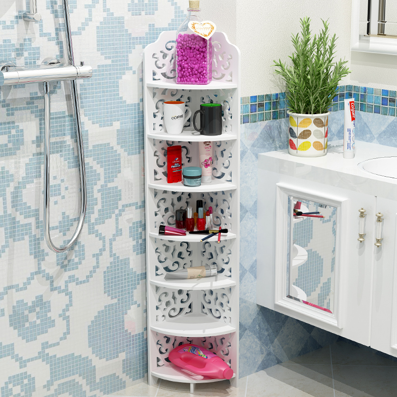Home Improvement Bathroom Fixtures Creative Balcony Hanging Wall Kitchen Storage Rack Mul Tifunctional Free Combination Bathroom Toilet Shelf