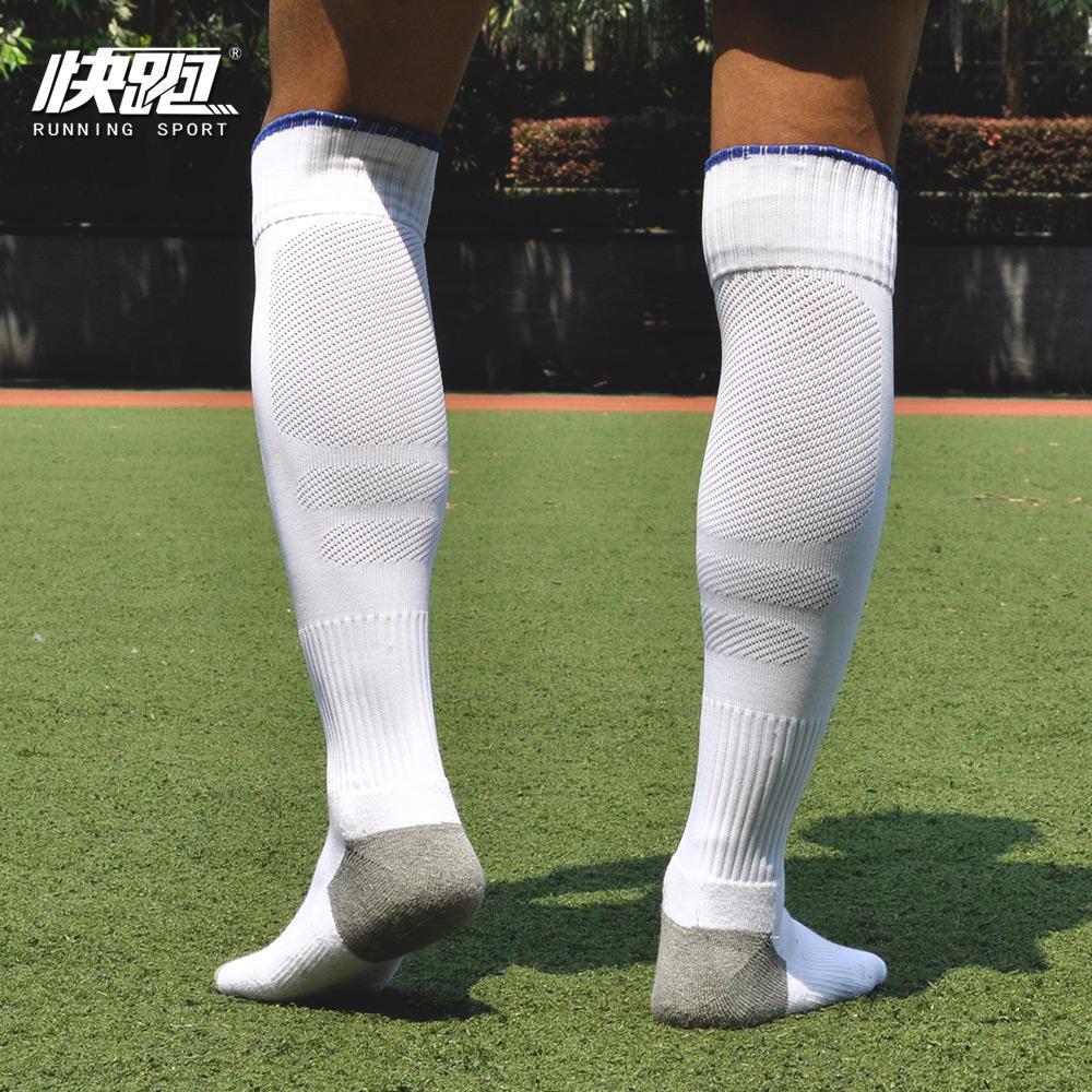 Футбольные чулки мужской стиль Над коленом утепленный Нижнее белье нескользящие Футбольные носки взрослые детские Соревнования спортивные носки