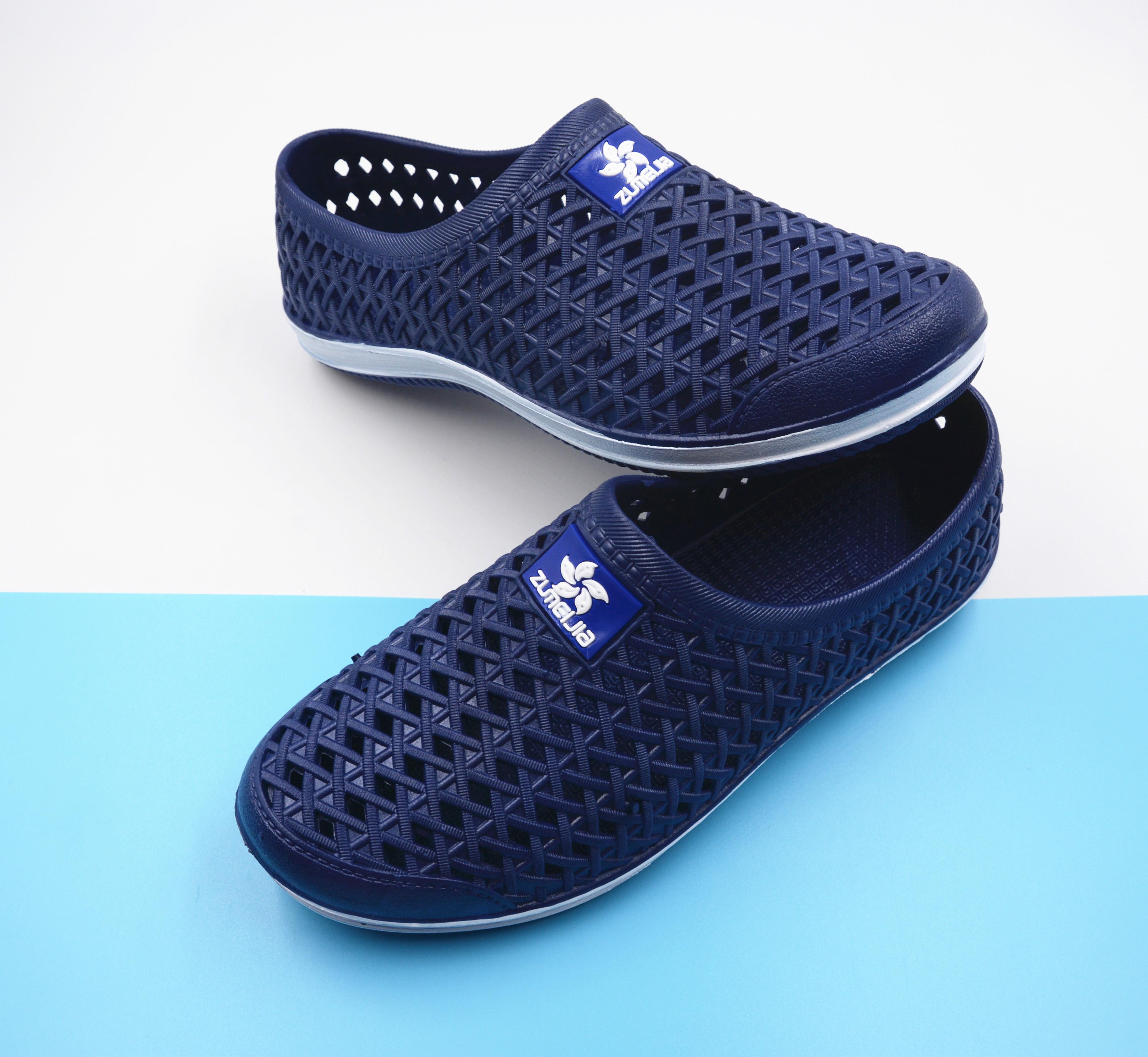 拖鞋外穿包头鞋夏季镂空透气防滑洞洞沙滩时尚男凉鞋潮流软底学生
