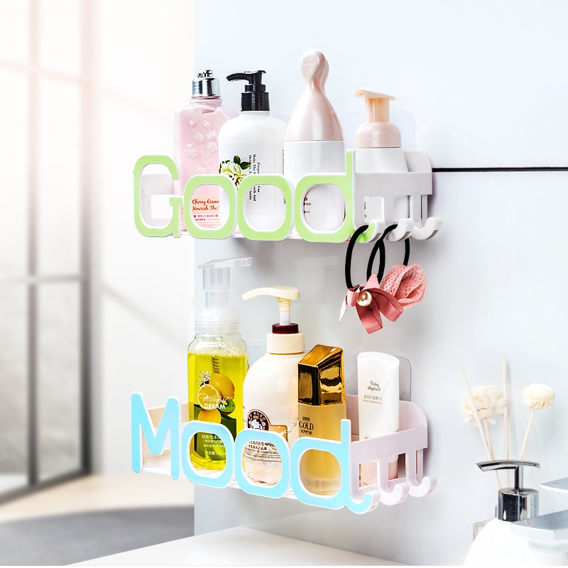 Bathroom shelf bathroom vanity toilet toilet suction shelf storage ...