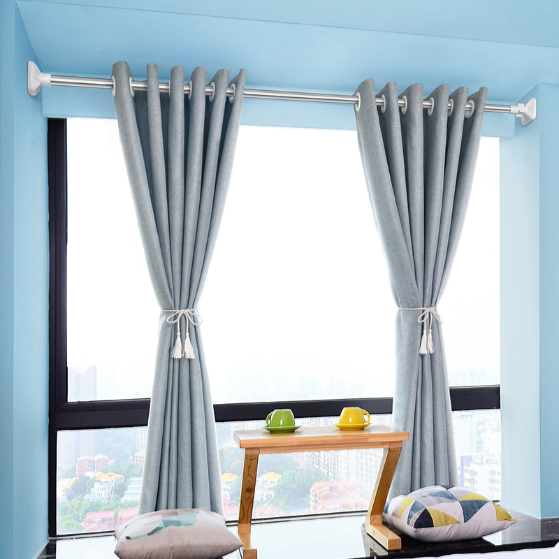 Non-perforation telescopic rod bedroom curtain rod clothes rod bathroom  shower curtain rod drying rack up and down brace wardrobe