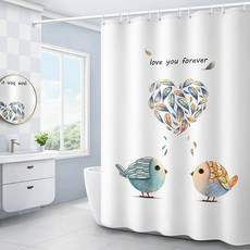 Bathroom shower curtain toilet partition cloth curtain shower shower waterproof set free punch curtain curtain curtain door curtain