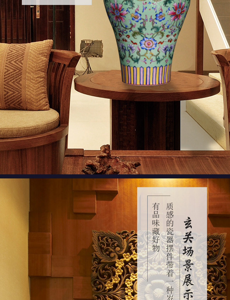 Jingdezhen ceramics Chinese antique hand - made shou steak pattern around branches crafts are sitting room vases, arts and crafts