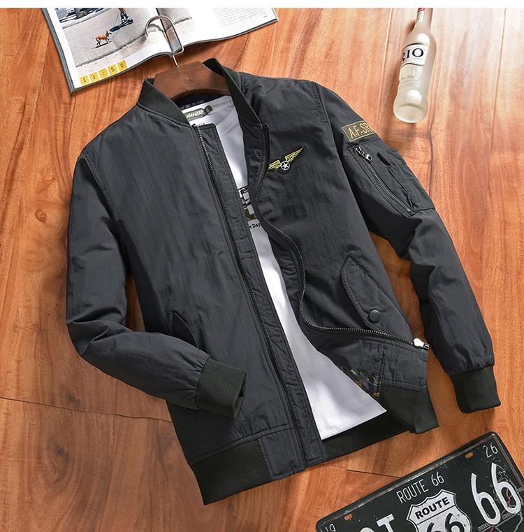 NIAN JEEP áo khoác nam mùa xuân và mùa thu thường thanh niên pilot men của mùa thu coat kích thước lớn đồng phục bóng chày phần mỏng