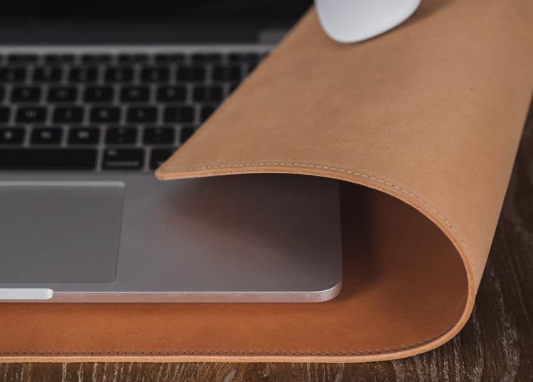 【zerc】意大利植鞣牛皮桌垫 macbook皮垫 苹果鼠标垫