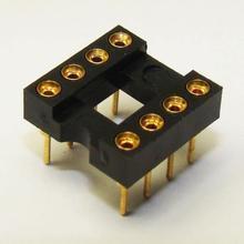 全镀金8PIC座8PINIC插座DIP8座8脚圆孔座运放座集成电路