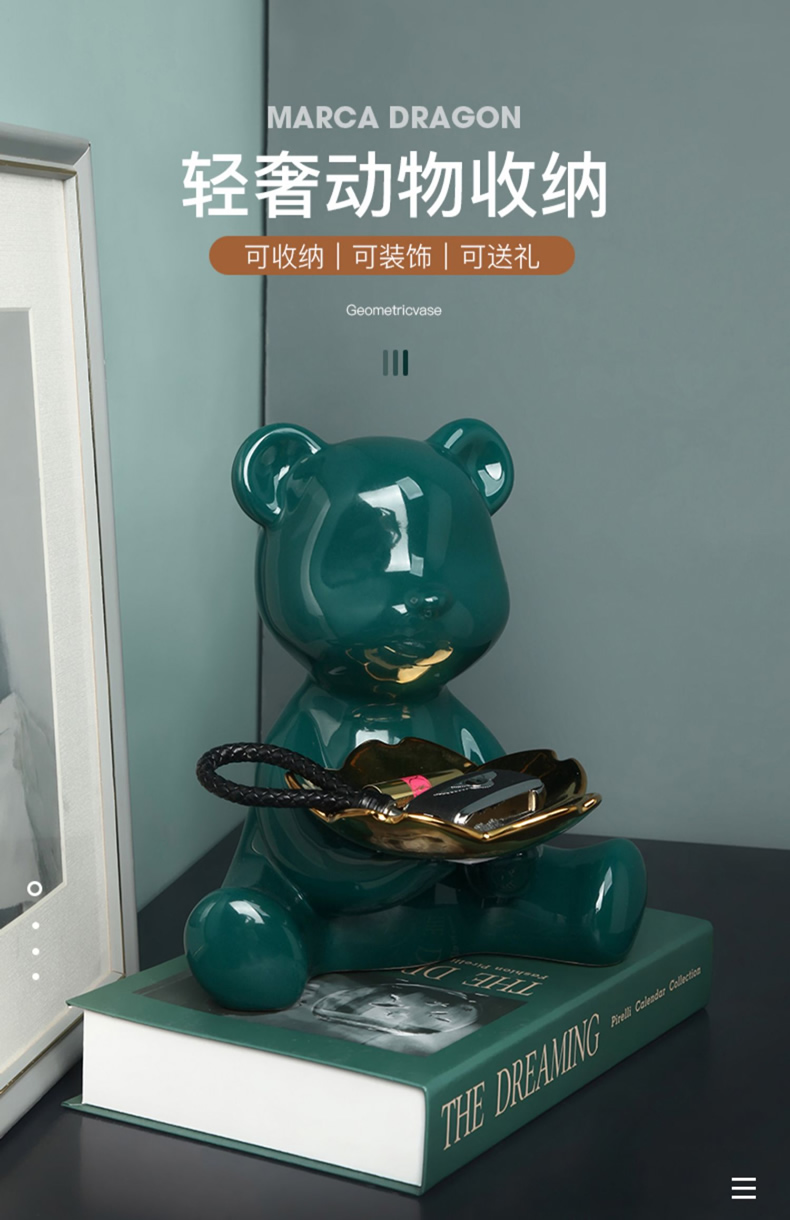 Nordic ceramic bear the receive furnishing articles ideas into feel put keys sitting room porch light much version into gifts