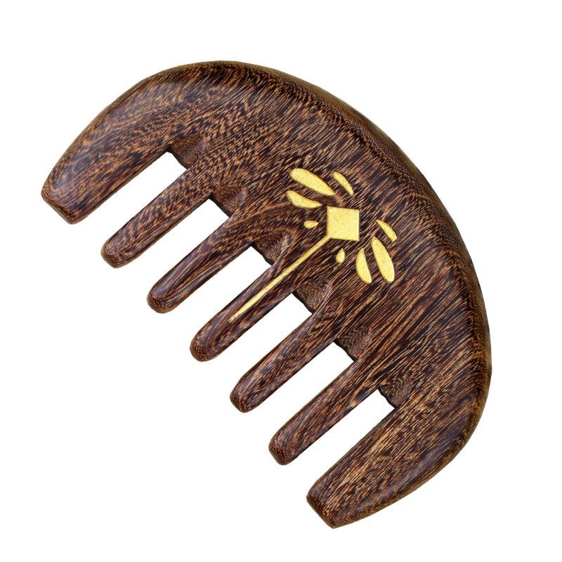 木梳檀木梳子头部通乳经络梳小号