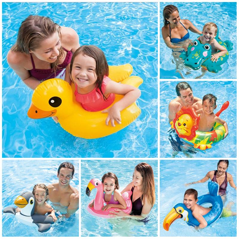 儿童v儿童圈3-6岁动物玩具卡通浮圈火烈鸟开口泳圈腋下圈水上造型