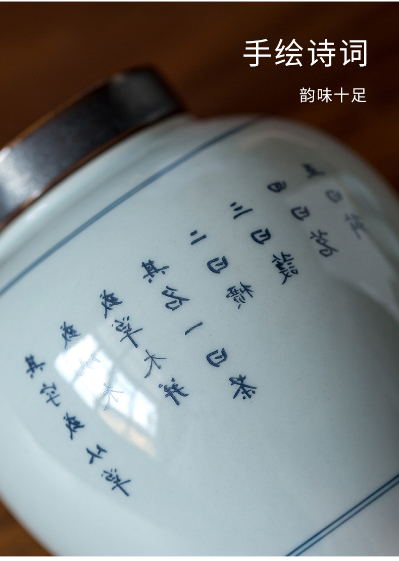Ultimately responds to large antique ceramic tea pot Chinese save POTS sealed tank storage POTS pu 'er tea POTS awake