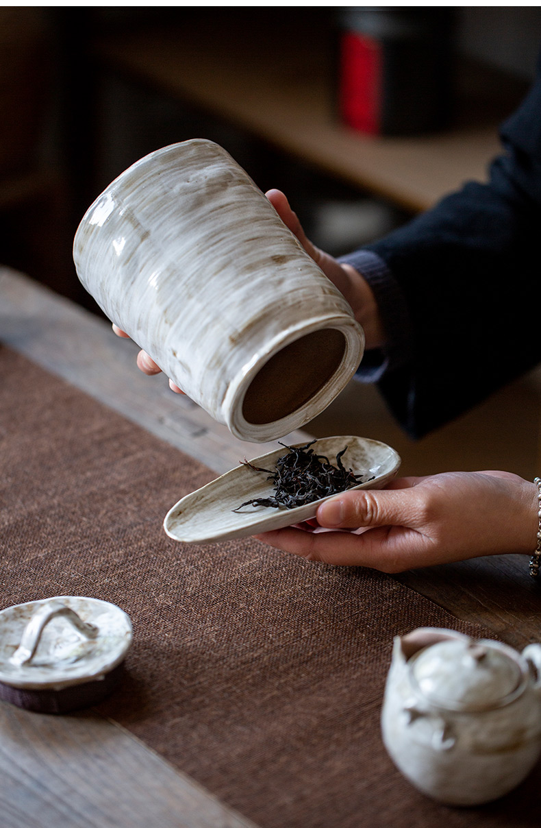 Ultimately responds to hand make coarse pottery caddy fixings household size of seal character moistureproof ceramic tea pot tea accessories