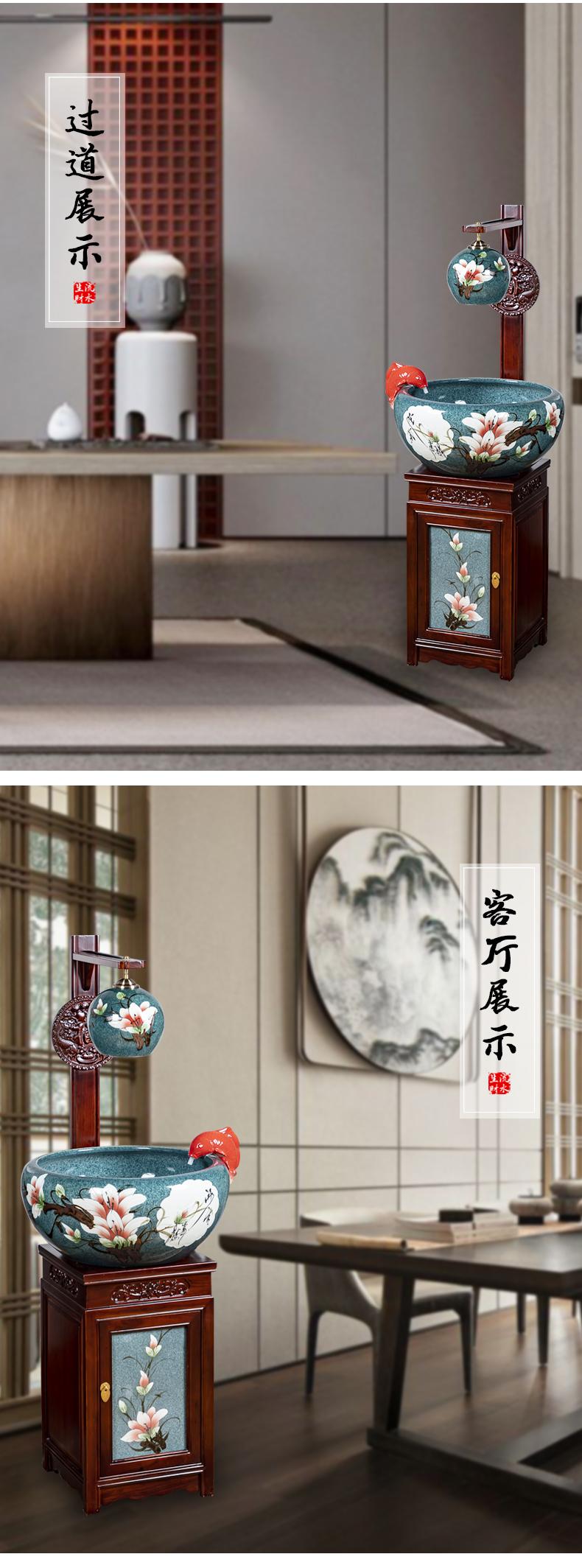 Jingdezhen ceramic cabinet demand goldfish tank be born feel sea cylinder porcelain jar home sitting room porch fish bowl