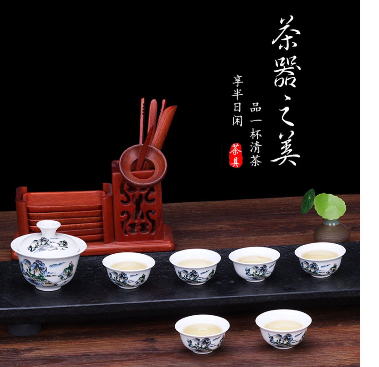 【1碗6杯】陶瓷茶具套装7件套