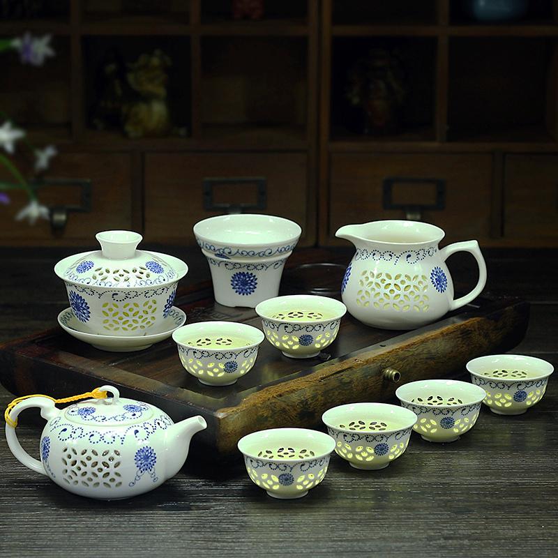 Леопард Непрерывный сильный дождь творческий домой изысканный керамика усилие чайный сервиз чайный поднос супница чайник пузырь чашка простой вид мораль город