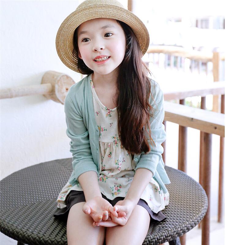 女童外搭开衫夏季冰丝儿童薄外套宝宝空调衫薄款防晒中大童针织衫