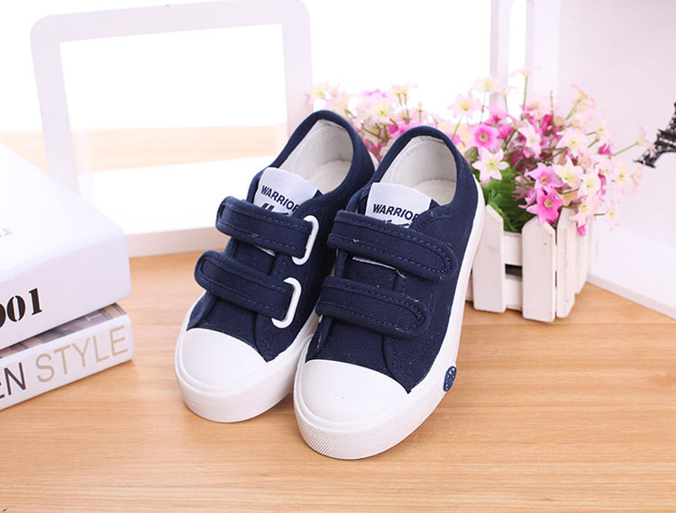 回力童鞋儿童帆布鞋 女童透气软底防滑小白鞋 男童学校表演出板鞋6张