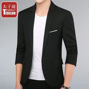 太子龙新款男士休闲小西装男青年西服修身韩版帅气男装上衣外套潮