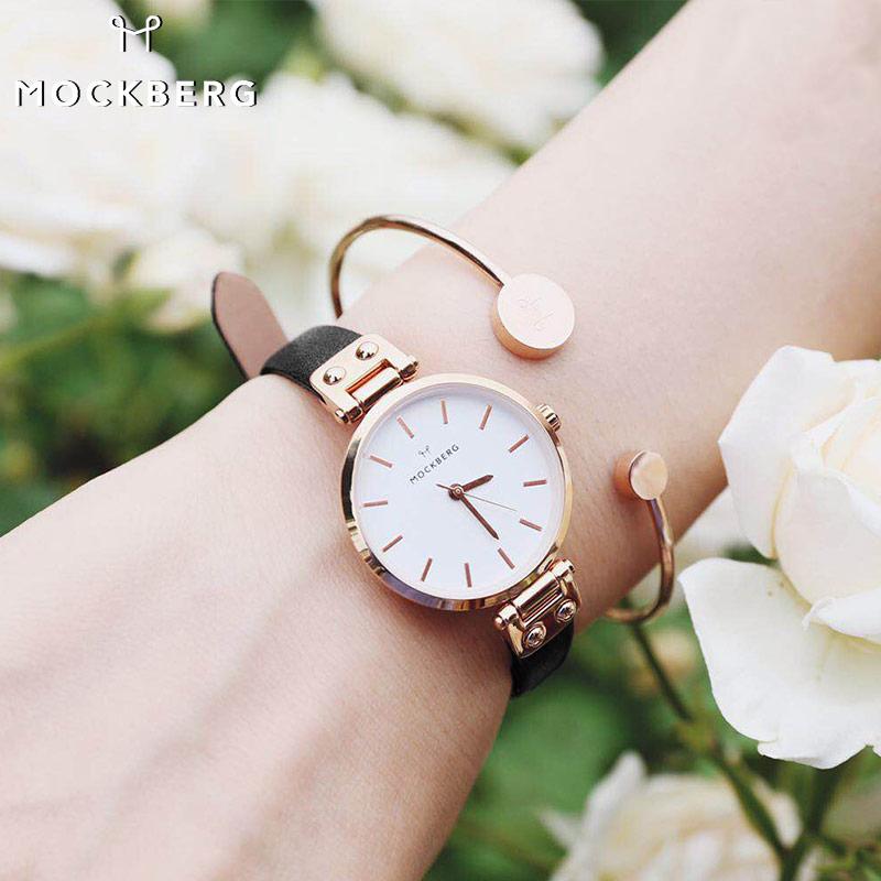 Mockberg女表mk手表女皮带时尚潮流dw手表小表盘小众ins表ck手表