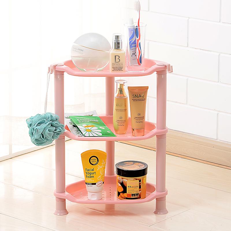 浴室置物架卫生间脸盆洗手间角厕所塑料储物收纳洗脸三角落地架子