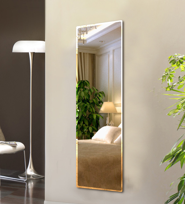Full Body Mirror Hole Free Frameless Mirror Living Room Bedroom Mirror Student Dormitory Wall Mirror Whole Wall Hanging Dance Home