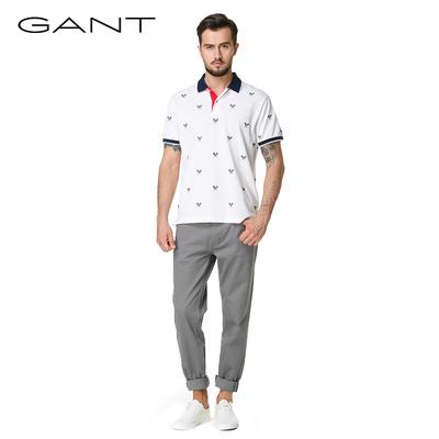 GANT Gantt nam mỏng dài tay T-Shirt Henry cổ áo thời trang thoải mái in polo shirt 222407 áo phông dài tay Áo phông dài