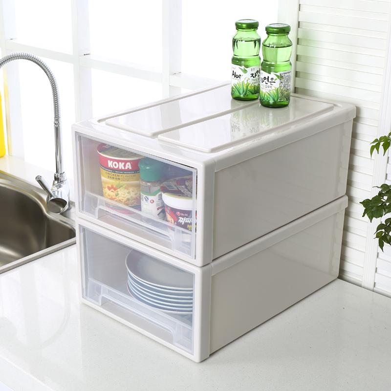 加厚透明抽屉式收纳箱塑料储物柜玩具置物衣服整理箱子衣柜收纳盒